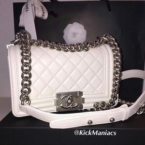 Authentic Chanel Purse White